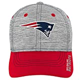 NFL by Outerstuff NFL New England Patriots Youth Boys Velocity Structured Flex Hat Heather Grey, Youth One Size