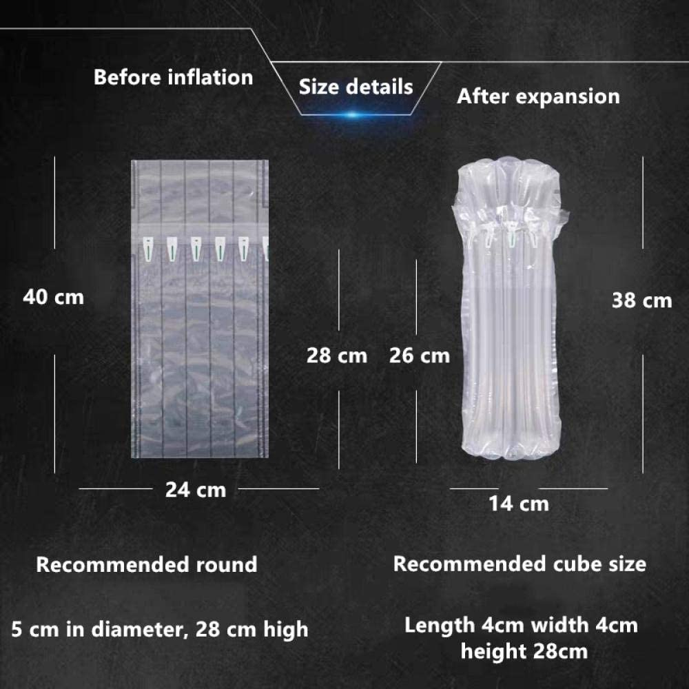 APQMR Wine Bottle Protector Gas Column Wrap Bags Sleeves Glass Travel Transport Air Filled Column Leakproof Cushioning-10pcs