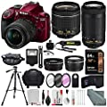 Nikon D3400 along with Deluxe Accessories Bundle by Nikon