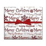 Merry Christmas Script Jumbo Rolled Gift Wrap - 67 sq. ft