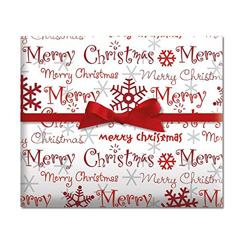 (Merry Christmas Script Jumbo Rolled Gift Wrap - 67 sq. ft)