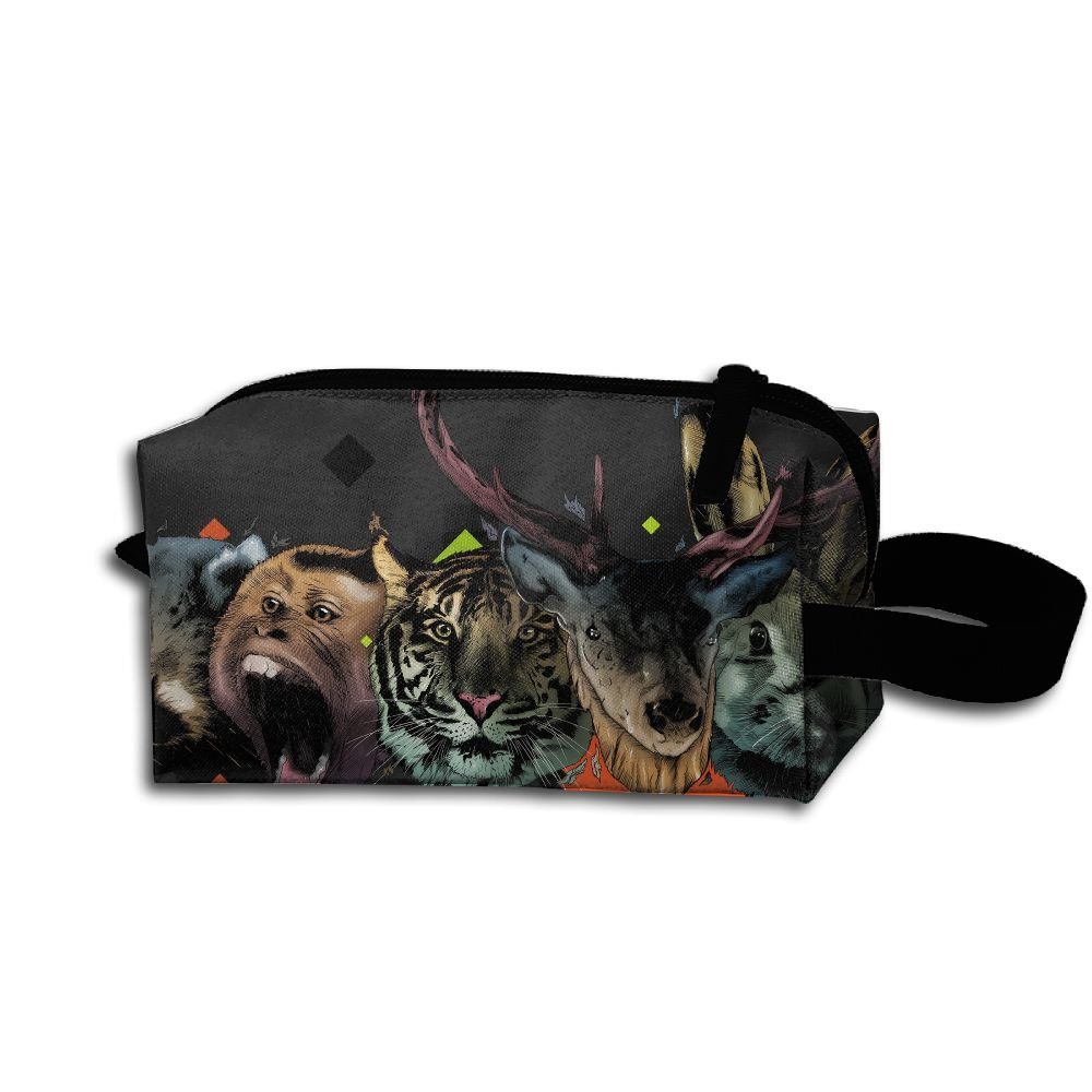 Makeup Cosmetic Bag Animals Zip Travel Portable Storage Pouch For Men Women