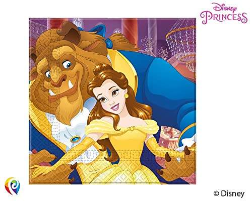 PRECUT Beauty /& The Beast Belle Rose Edible Cupcake Toppers Cake Decorations