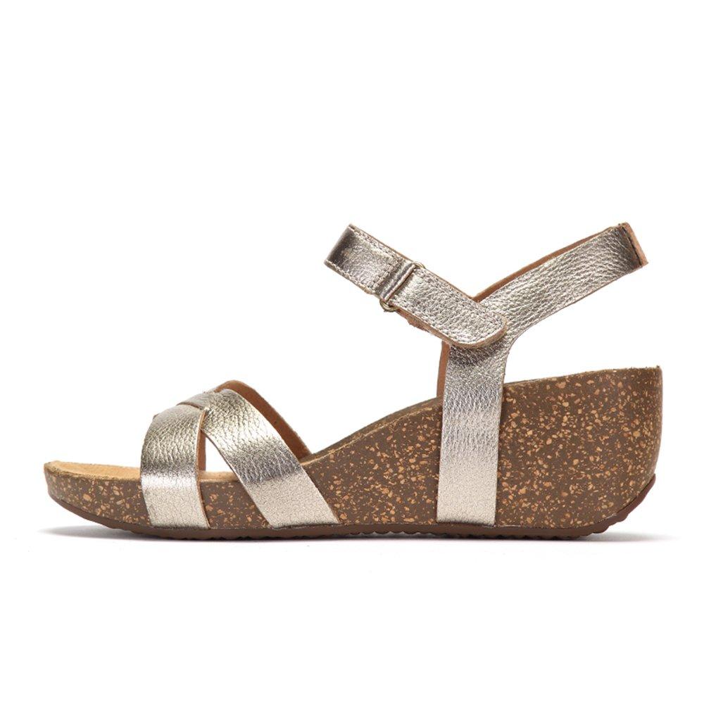 8345b0732e Clarks Temira Compass, Women's Wedge Heels Sandals, Yellow (gold Metallic  Leather), 3 UK (35.5 EU): Amazon.co.uk: Shoes & Bags