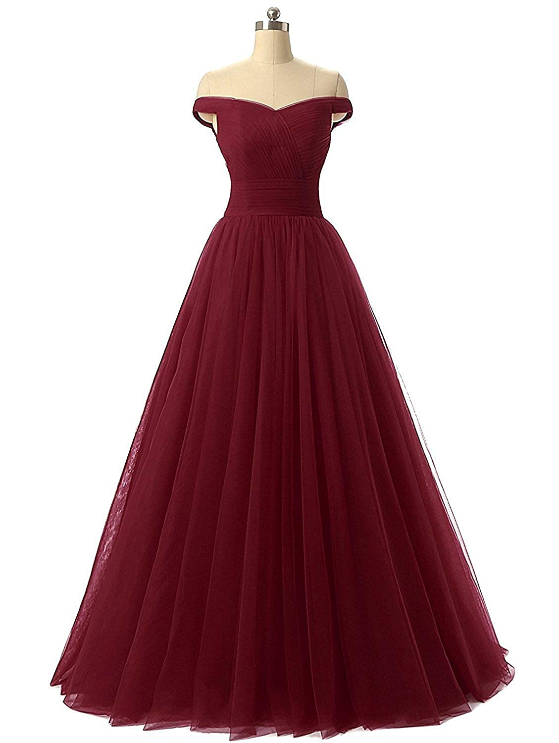 Burgundy Diydress Aline Tulle Prom Formal Evening Homecoming Dress Ball Gown
