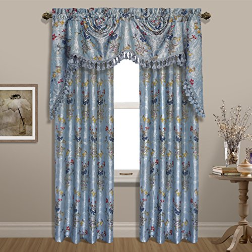 United Curtain Jewel Woven Window Panel, 54 by 84″, Blue, 54″ X 84″ Review
