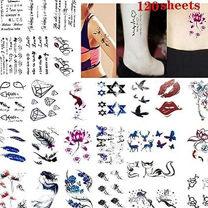 Tatuajes temporales 120 Blatt Sexy Kinky Tattoo schmerzfreies ...
