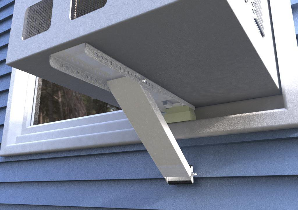 Jeacent Universal AC Window Air Conditioner Support Bracket Heavy Duty Up to 165 lbs