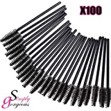 100 X Simply Gorgeous Disposable Eyelash Mini Brush Mascara Wands Applicator