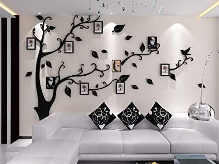 Alicemall 3D Wall Stickers Photo Frames FamilyTree Wall Decal Easy To  Install U0026Apply DIY Photo Gallery
