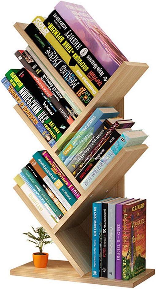 Estantería de madera simple, estante para libros en árbol, mesa de exhibición, estantería para estudiantes, almacenamiento de revistas, estante para libros de múltiples capas para la oficina doméstica: Amazon.es: Hogar