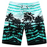 Happy Costumes Mens Slim Fit Quick Dry Short Swim Trunks With Mesh Lining
