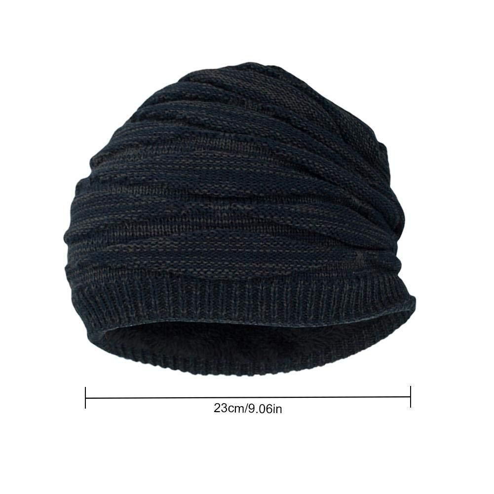 Color : Blue DEI QI Mens Outdoor Hat Wool Cap Winter Plus Velvet Warm