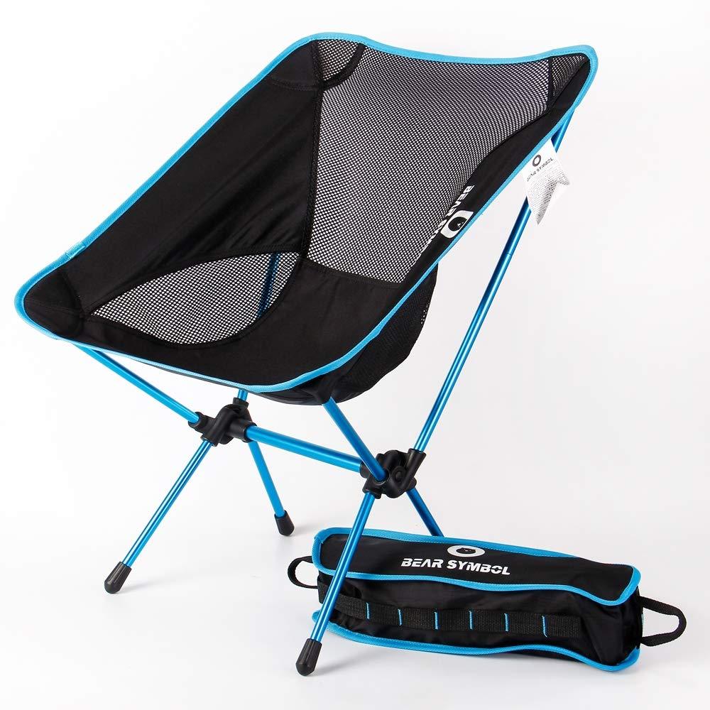 DUBAOBAO Chaise Pliante d'extérieur, Chaise de Plage Ultra-légère en Alliage d'aluminium d'aviation 7075, Barbecue de Chaise de pêche pour la pêche, avec Sac à Main 1set -