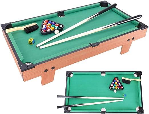 Mesa de billar Mini mesas de Billar For Niños Mesa Juego Fresco Regalos De Cumpleaños For Los Niños Y Niñas Juegos De Mesa (Color : Green, Size : 58 * 34 * 17cm): Amazon.es: Hogar
