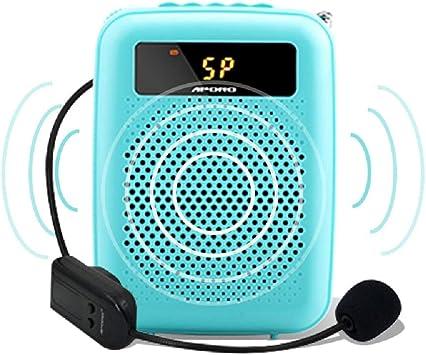 Amplificador de Voz Digital PortáTil con Fuente De AlimentacióN De MicróFono InaláMbrico para GuíAs De Viaje, Maestros, Entrenadores, Presentaciones, Amplificadores Especiales para Ropa: Amazon.es: Electrónica