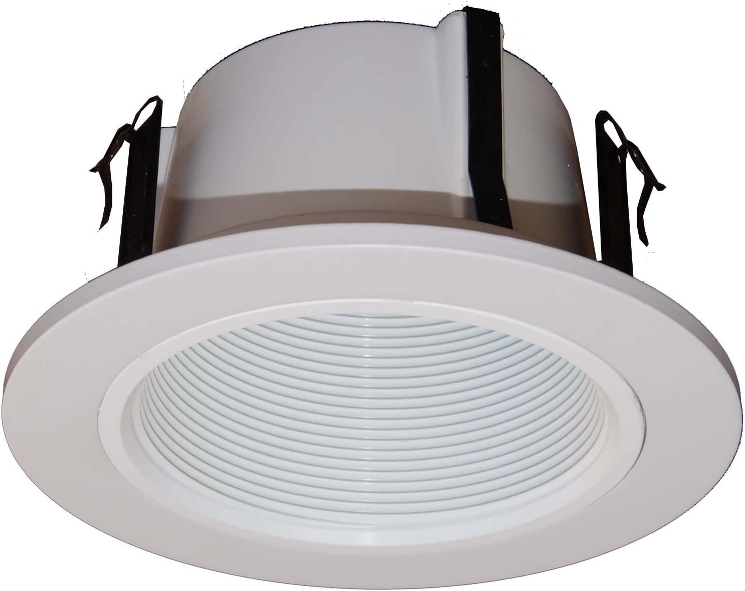 6 Pack-4 Inch Open Baffle Trim with Bracket for Line Voltage Recessed Light//Lighting-fit Halo//Juno