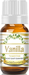 Pure Gold Vanilla Essential Oil, 100% Natural & Undiluted, 10ml