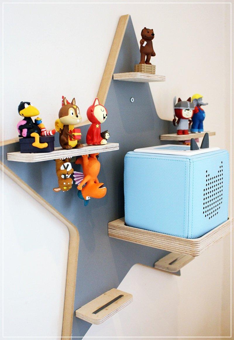 Das Regal für die Musikbox Herz /& Design Generic Boxie Board Stern Grau//Matt