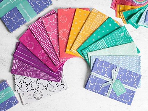 Craftsy Lily & Loom Modern Hand Drawn Pop Art Precut Fabric (Half Yard (0.25 Yard Bundle)