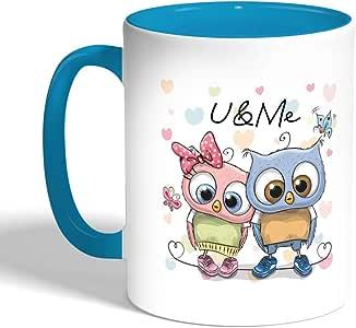 كوب سيراميك للقهوة، اسود، u & me بتصميم بوم