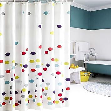 fun kids shower curtain simple and colorful 72x72 inch polka dot design bath curtain for - Kids Shower Curtain