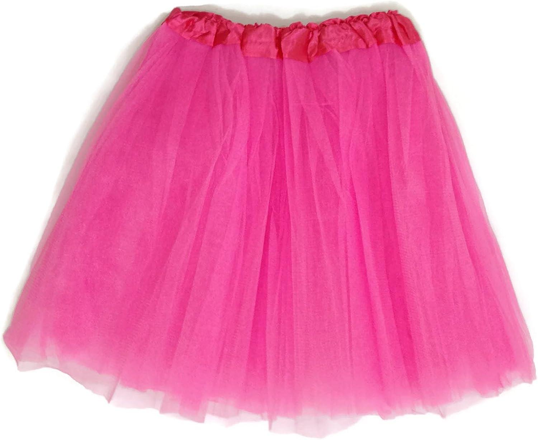 Pink Elastic Waist Stretch Tutu ballerina Skirt