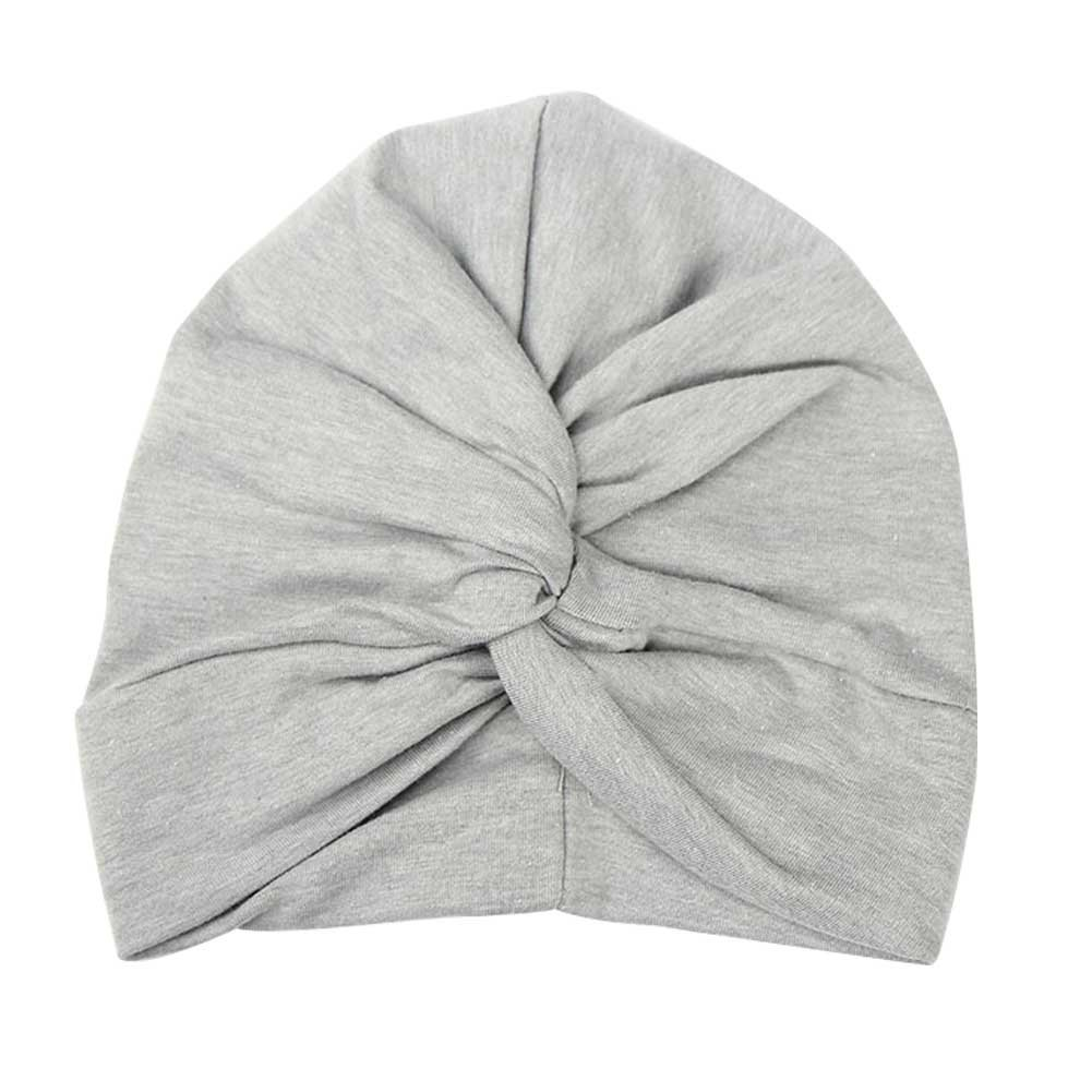 CHUANGLI Little Girls Kids Infant Toddle Indian Boho Style Hat Cotton Twist Knot Turban Beanie Cap