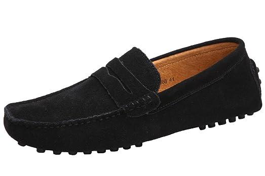 Mocasines de gamuza Minitoo, casuales, para mujeres, color Negro, talla 40