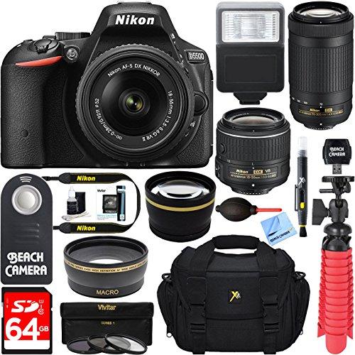 Nikon D5500 Digital SLR Camera with 18-55mm & 70-300mm Dual NIKKOR Lens Kit + Accessory Bundle