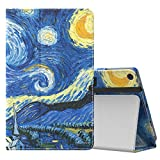 MoKo Case for All-New Amazon Fire HD 10 Tablet (7th Generation, 2017 Release) - Slim Folding Stand Cover with Auto Wake / Sleep for Fire HD 10.1 Inch Tablet, Starry Night