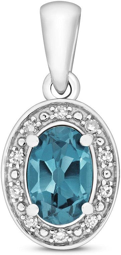 Diamond and London Blue Topaz Penda