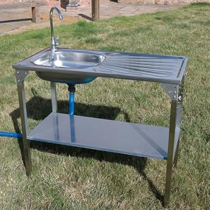 CRAVOG unidad de fregadero de cocina acero inoxidable camping ...
