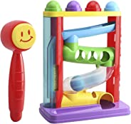 First Toys - Hit 'N' Roll - Super Durable Pound A Ball   Developmental Toy , Classic Hammering and Pounding Toy for Toddlers