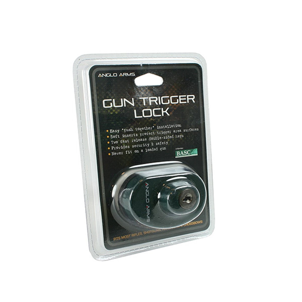 Anglo Arms Gun Trigger Lock With 2 Keys Airsoft Hunting Field Sports