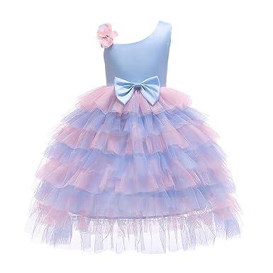 TIFIY Mädchen Spitze Bowknot Tüll Hochzeitskleid Prinzessin Kleider Cosplay Festliche Geburtstagsfeier Langes Abendkleid Carn