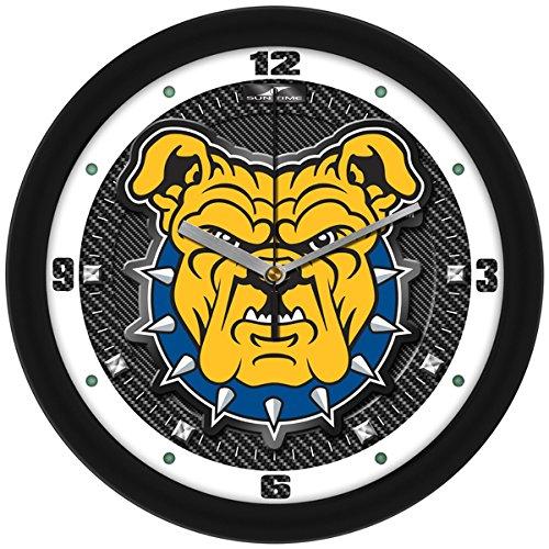 SunTime NCAA North Carolina A&T Aggies Textured Carbon Fiber Wall Clock Aggies Ncaa Wall Clock