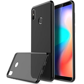 cheaper 4d3d4 8ea1c Cubot J3 Pro case, KuGi Ultra-thin Soft TPU Gel Cover [Slim-Fit]  [Anti-Scratch] [Shock Absorption] for Cubot J3 Pro Smartphone. Black