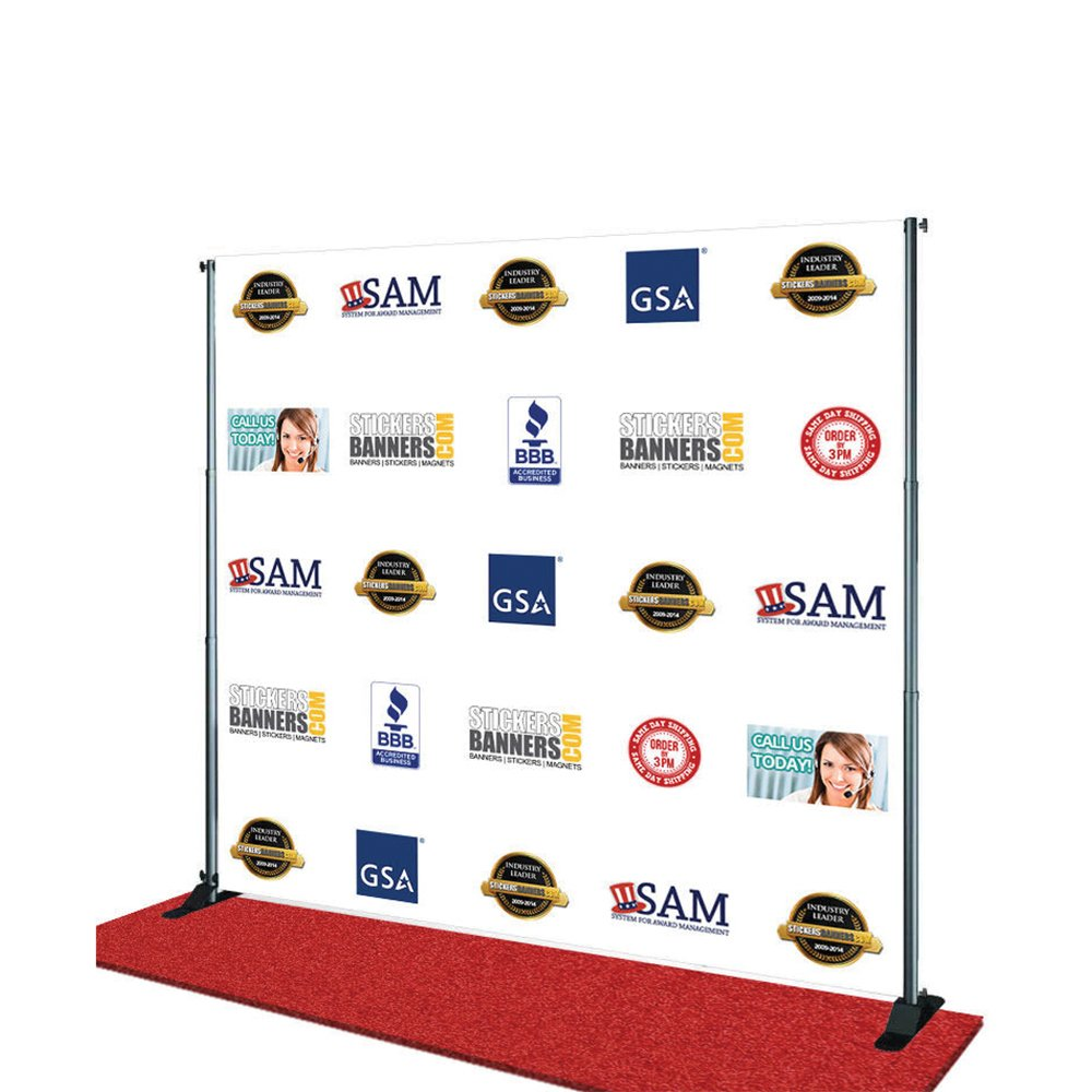 Custom Step and Repeat Banner 7 x 8 ft by Bannerbuzz