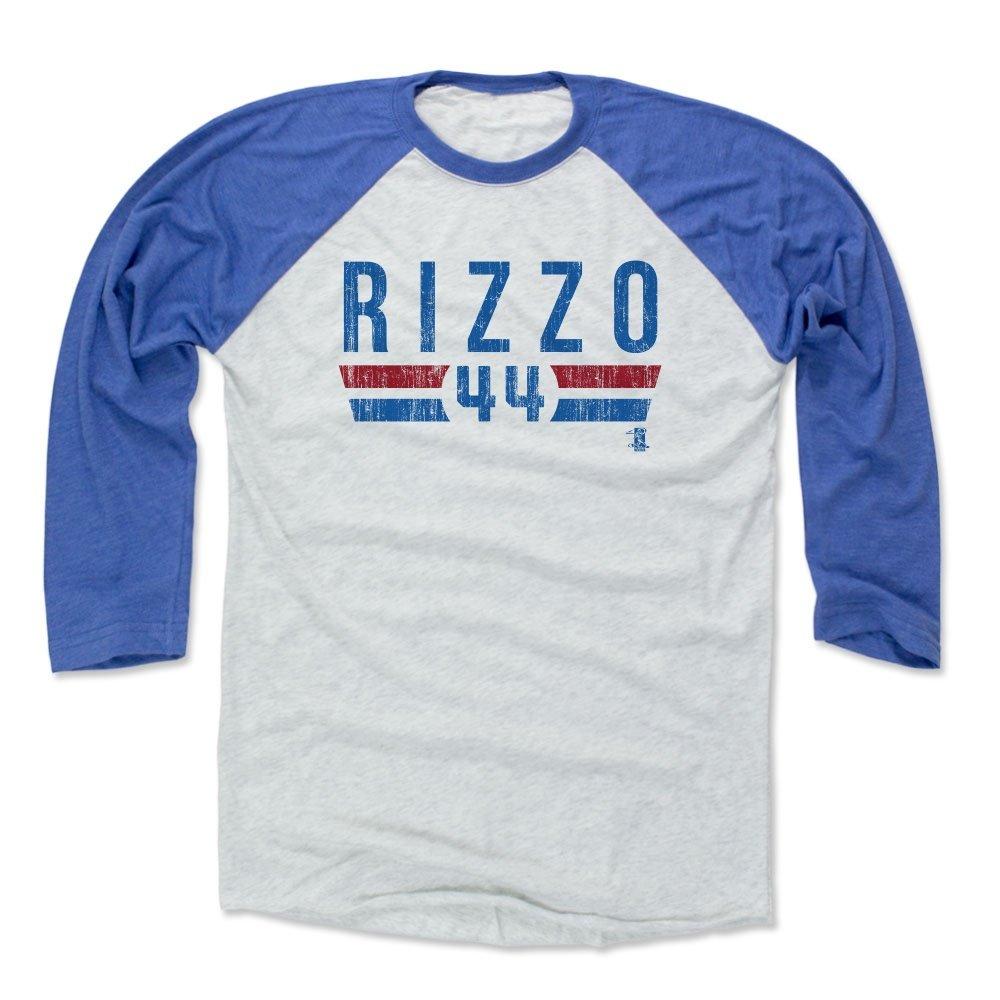 pretty nice 43df9 f238e 500 LEVEL Anthony Rizzo Baseball Tee Shirt - Chicago Baseball Raglan Shirt  - Anthony Rizzo Font