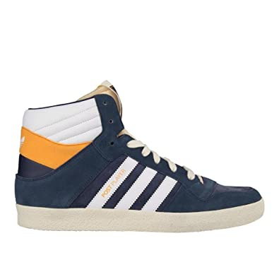 b9c7584b9aed Adidas Men s Post Player Vulc Navy White High Top Suede Mesh Casual Shoes  Trainers (UK