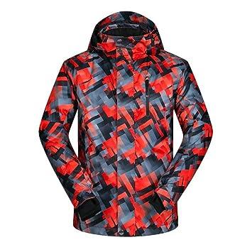 Zjsjacket Chaqueta de Esqui Chaqueta de esquí y Snowboard de Invierno para Hombre Impermeable y Transpirable