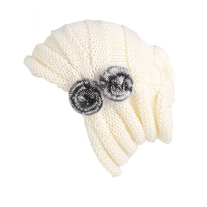 bc87f1857 Women Winter Caps Knitted Wool Cotton Hat Ladies Autumn Knitting ...