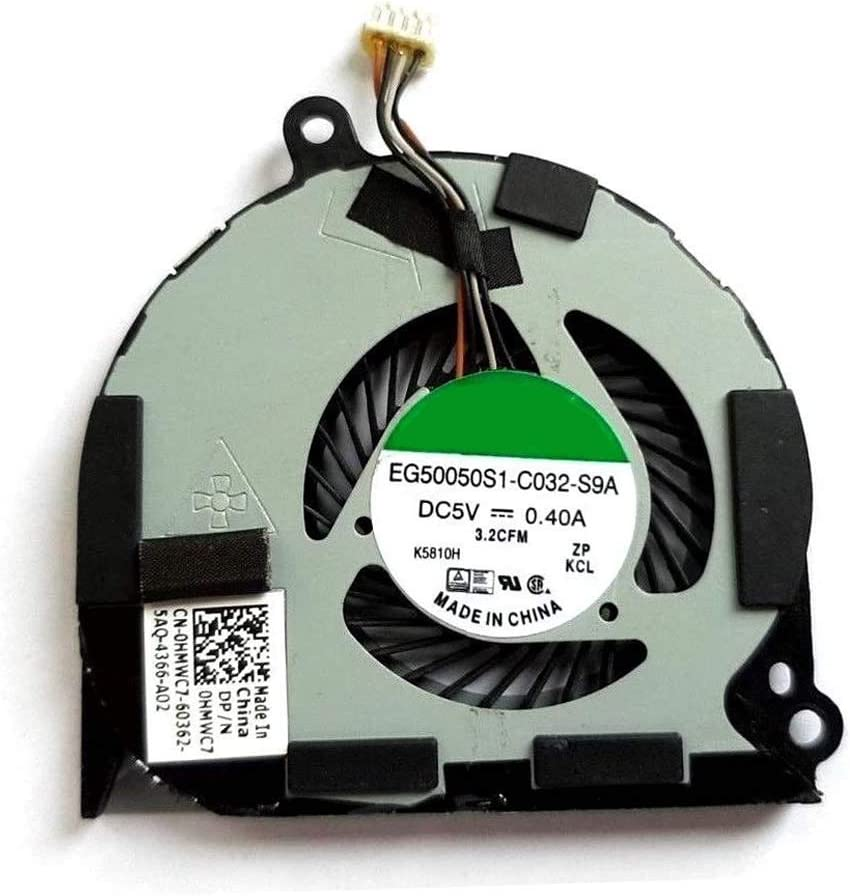 Laptop CPU Cooling Fan for DELL for Latitude E7450 P40G EG50050S1-C032-S9A DC28000F5SL 0HMWC7 HMWC7 DC5V 0.4A New