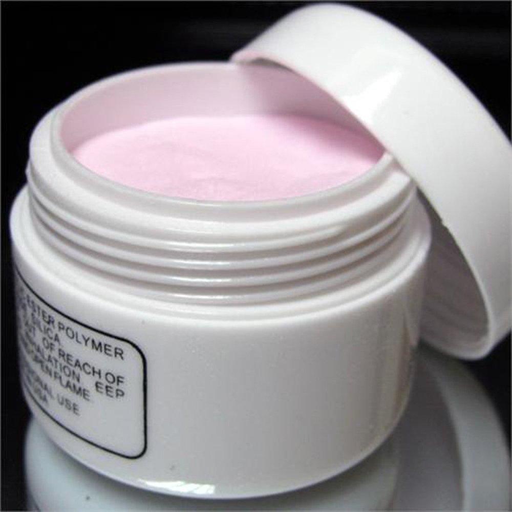 Energía® de color rosa del arte del clavo puntas de las orejas de cristal en forma de polímero de litio para aroma de polvos de talco SODIAL(R) 008006