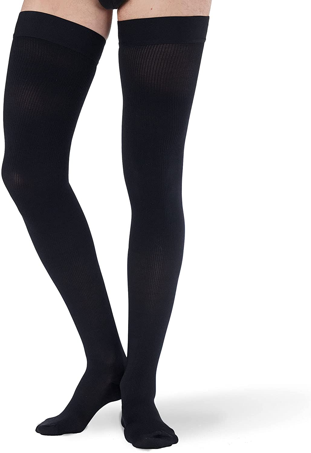 Mens Winter Warm Compression Socks Stretchy Thick Hosiery Sports Long Stockings