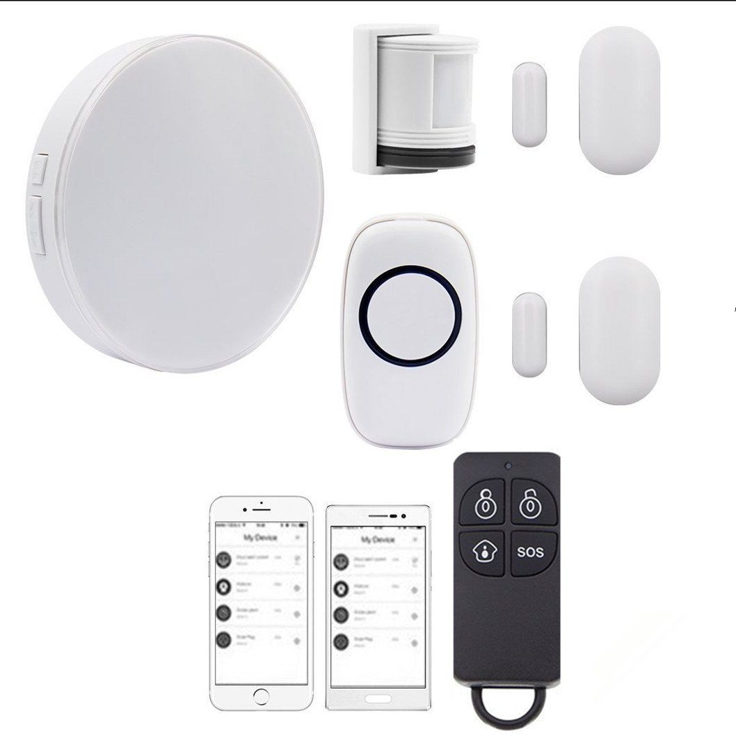 Wireless Smart Home Alarm System Anti-theft Siren, Multi-functional DIY Family Alarm Security System, Wifi,Works with Amazon Alexa, App Controlled by IOS&Andriod Smartphone by Yasolote