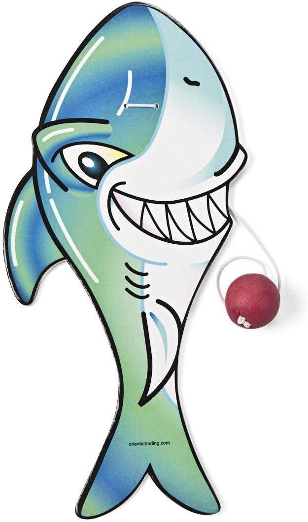 SHARK PADDLEBALL - Toys - 12 Pieces