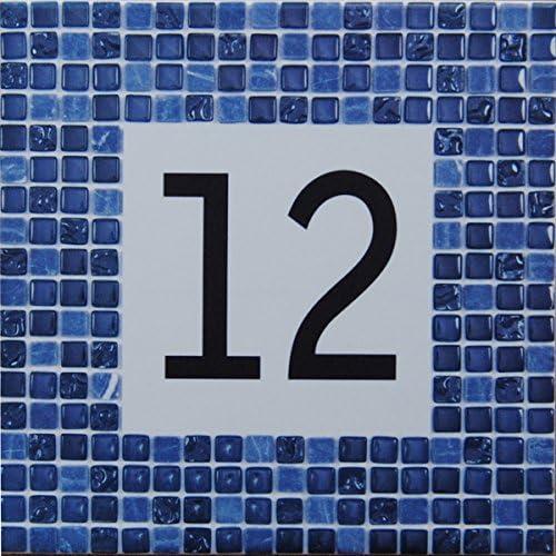 Choisissez votre num/éro/et la taille de votre plaque de rue ! AzulDecor35 Plaque originale avec num/éro de rue personnalis/é /à petit prix en faience