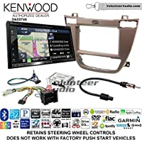 Volunteer Audio Kenwood DNX574S Double Din Radio Install Kit with GPS Navigation Apple CarPlay Android Auto Fits 2011-2013 Buick Regal (Brown)